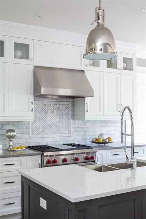 kitchen makeover progress  herringbone tile backsplash