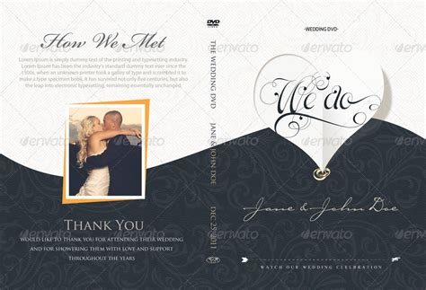 Elegant Wedding Dvd Covers And Disc Label By Shermanjackson