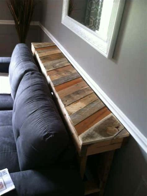 narrow pallet couch table  pallets
