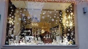 Xmas shop window with snow