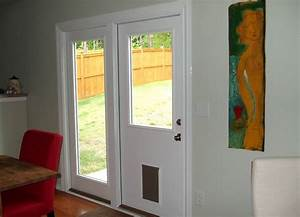 door with built in dog door must have for dog owners With build a dog door