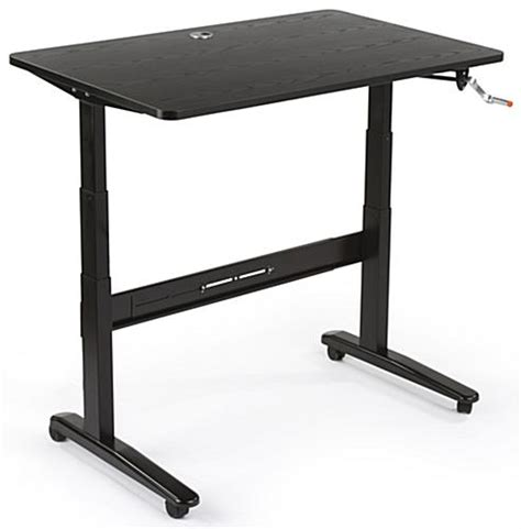 Manual Crank Standing Desk by Manual Sit Stand Desk 48 X 30 Tabletop