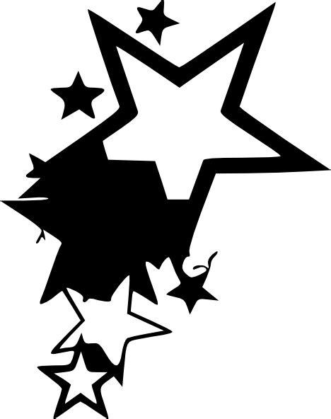 Star Tattoo Design By Average Sensation Clip Art at Clker