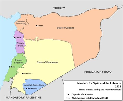 Filefrench Mandate For Syria And The Lebanon Map Ensvg