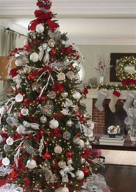 christmas tree red white most pinteresting trees on celebration all about