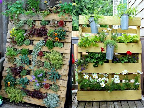 jardin vertical en palettes joli place