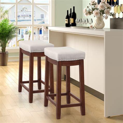 tkoofn pcs   seat height bar stool kitchen backless