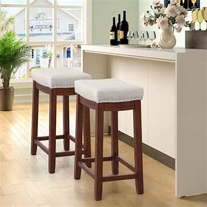 Tkoofn, 2pcs, 27, Inch, Seat, Height, Bar, Stool, Kitchen, Backless, Linen, Counter, Height, Stools