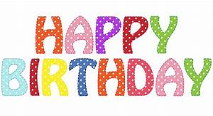 Happy Birthday Text Clipart Free Stock Photo - Public ...