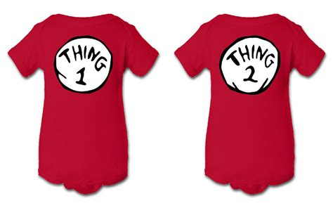 Thing 1 Thing 2 Dr. Seuss Inspired Infant Baby Newborn