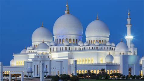 abu dhabi sheikh zayed mosque  night united arab