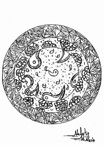 Mandala Coloring Pages Adults Mandalas Valentin Adult