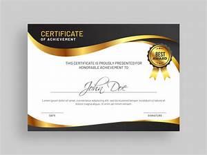 Certificado De Plantilla De Premio De Logro Descargar