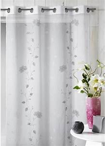 voilage en etamine brodee floral gris homemaison With chambre bébé design avec fleurs vente en ligne
