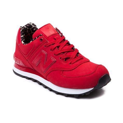 womens  balance  athletic shoe red monochrome