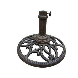 oakland living patio umbrella stand in antique