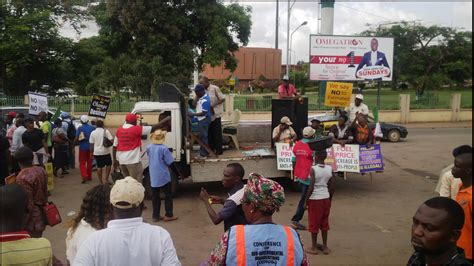 Photos From Today's Protest In Benin City