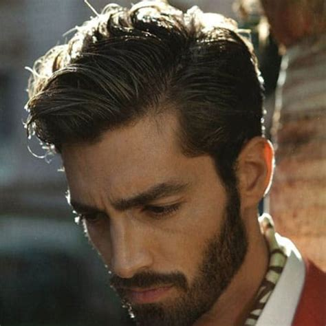 mens parted hair styles side part hairstyles and parted haircuts s 6114