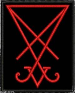 SIGIL SEAL OF LUCIFER EMBROIDER PATCH RED COLOR OCCULT ...