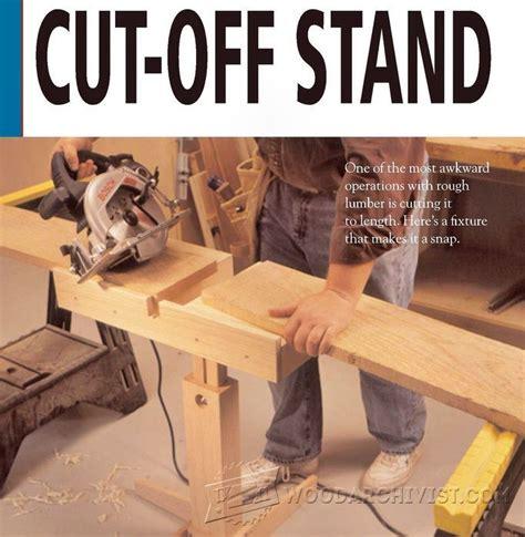 circular  cut  stand plan woodarchivist