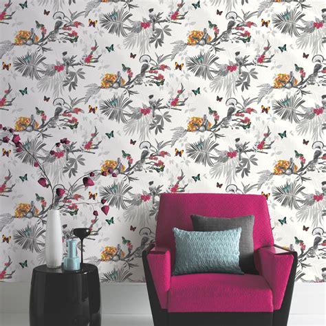 arthouse mystical forest floral leaf pattern bird
