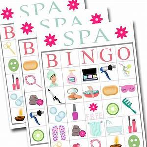 Spa Bingo Printable Game Girls Party Game Spa Party Beauty