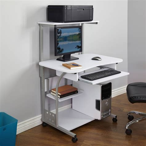 computer desk with tower storage planing compact computer desk for small place the