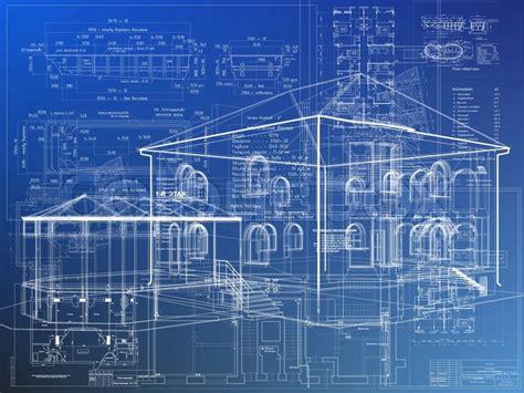 blaupause architektur haus plan stockfoto colourbox