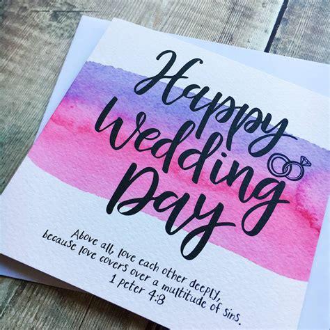 happy wedding day bible verse card  izzy pop