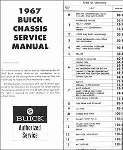 1967 Buick Chassis Repair Shop Manual Original
