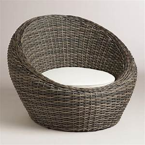 All-Weather Wicker Formentera Egg Outdoor Chair World Market