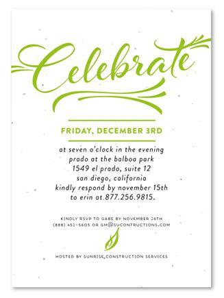 corporate event invitations modern script  green