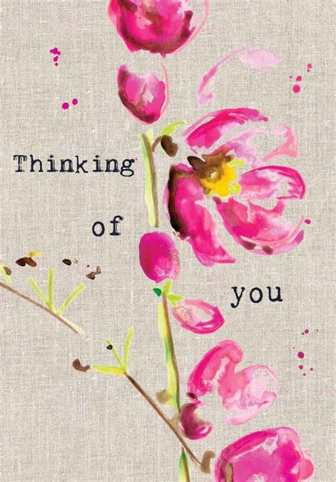Images Of Thinking Of You Pink Flowers Thinking Of You Card Karenza Paperie