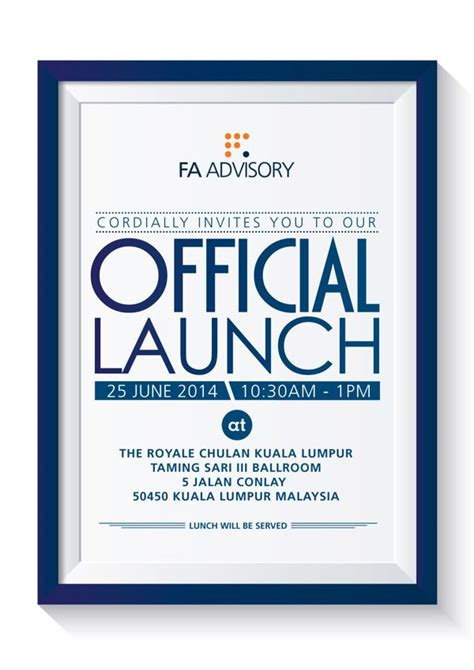 Official Launch Invite on Behance Invitations Corporate