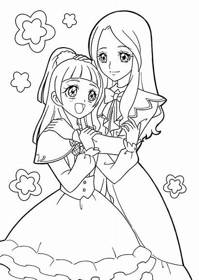 Coloring Pages Books Anime Pretty Printable Cure