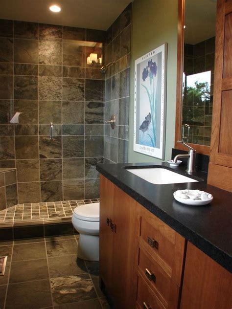 slate tile showers images  pinterest