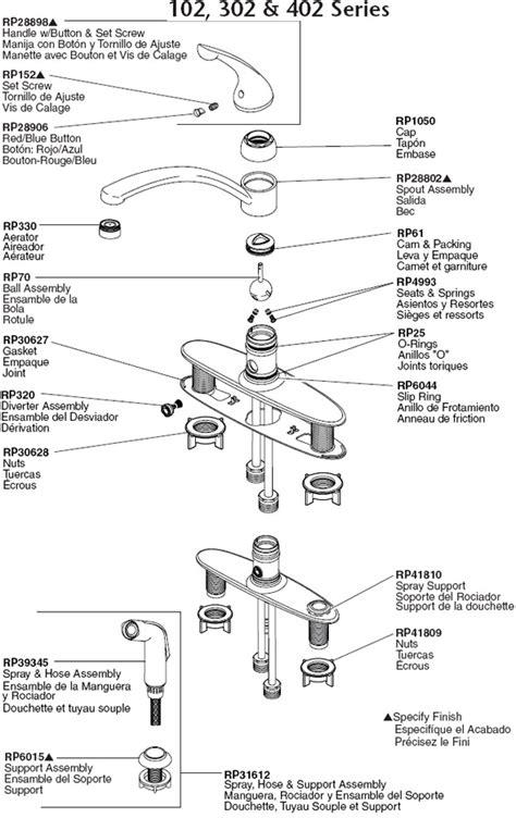 delta kitchen faucet parts diagram plumbingwarehouse com delta kitchen faucet parts for