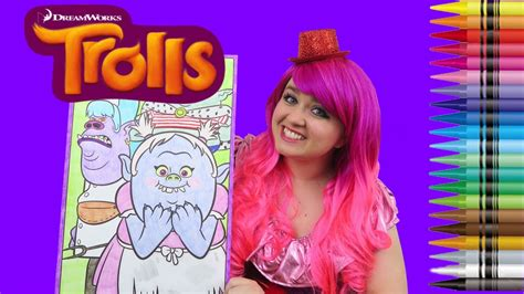 coloring trolls  bergens giant coloring book page