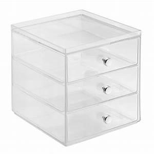 Boite Tiroir Plastique : bo te de rangement superposable 3 tiroirs transparent grand mod le ac deco ~ Teatrodelosmanantiales.com Idées de Décoration