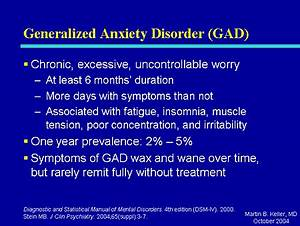 Treatment For Generalized Anxiety Disorder Method