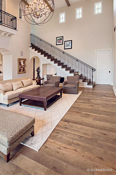 Living Room Designs With Oak Flooring by Live Sawn Wide Plank White Oak Flooring In Silverleaf In