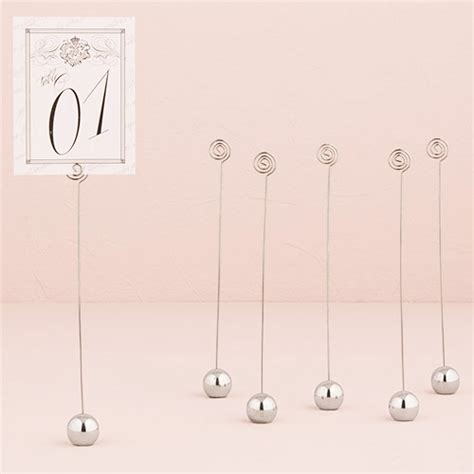 silver table number holders silver ball table number holder set of 12 wedding