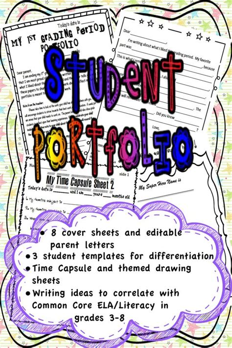 15184 portfolio design for elementary students student portfolios for all subjects using common a