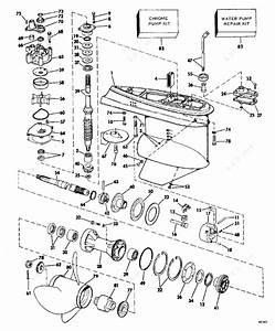 Evinrude 1979 115 - 115993r  Gearcase