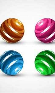 Colorful 3d sphere set Free vector in Encapsulated ...