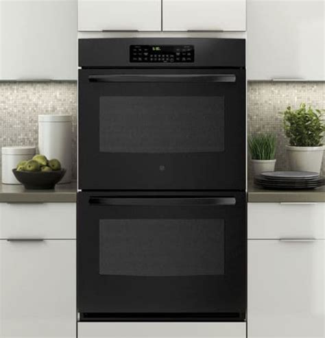 ge jt   electric double wall oven   cu ft total capacity proof warm
