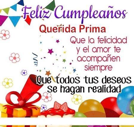 50 Imágenes de Feliz Cumpleaños Prima Frases y Mensajes