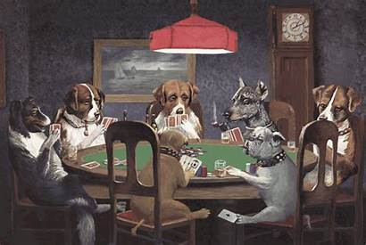 Poker Playing Dogs Coolidge Cassius Marcellus Painting