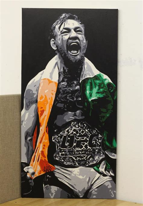 this superb painting of conor mcgregor captures a ufc 189 moment balls ie