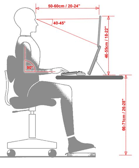 what is desk height ergonomics what 39 s the ideal height for a laptop desk quora